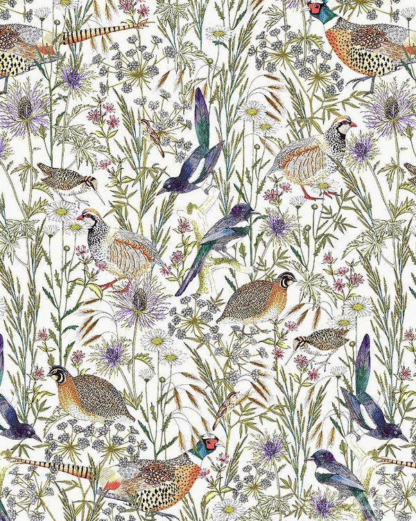 I adore this! Woodland Edge Birds by Jacqueline Colley