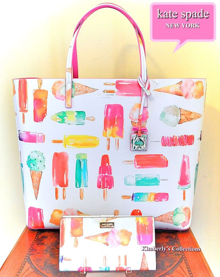 KATE SPADE NY Flavor Of The Month Ice Pop Leather Tote Bag & Wallet Set NWT  | eBay