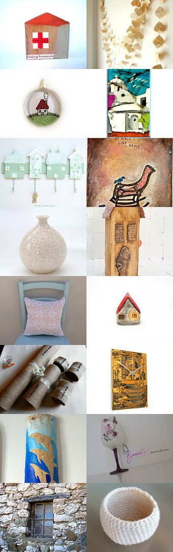 Home sweet home by DropsofArt BagProject on Etsy--Pinned with TreasuryPin.com