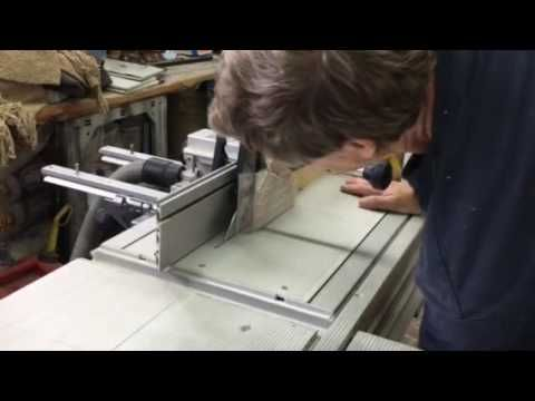 Festool CMS TS-75 with modified fence - YouTube
