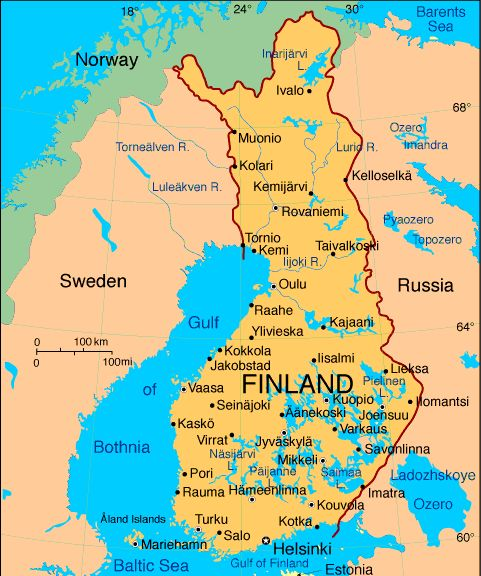 Finland Atlas: Maps and Online Resources | Infoplease.com