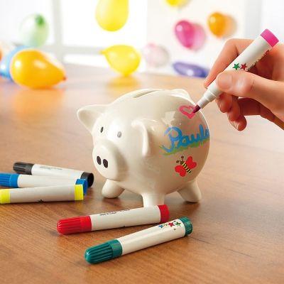 Mit Diesem Sparschwein Aus Porzellan Verschenkst Du Eine Interaktive Und  Kreative Sparbüchse. Du Kannst Es