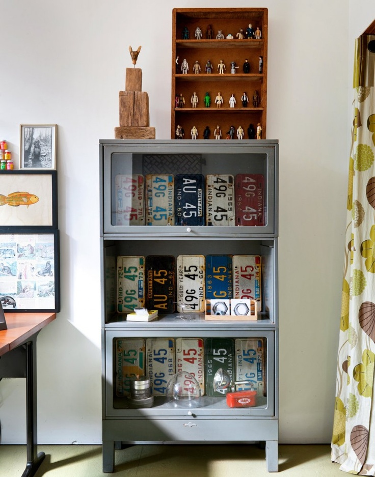 Bookcase w/License Plates