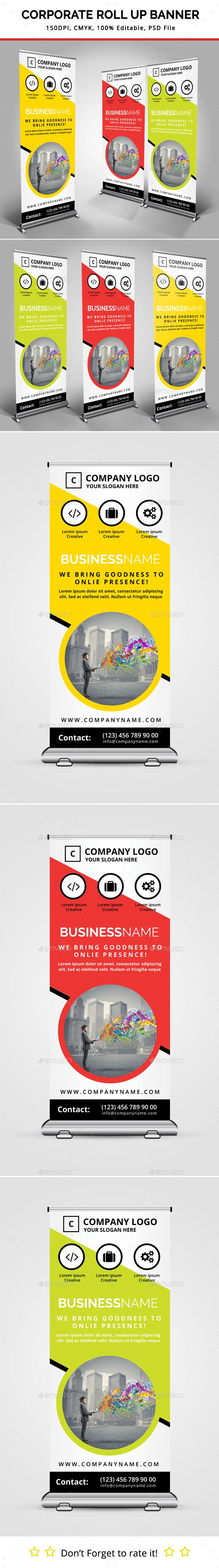 Corporate Roll Up Banner Template #design Download: http://graphicriver.net/item/corporate-roll-up-banner/11225518?ref=ksioks