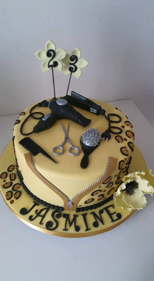 15 best Beautician Cakes images on Pinterest | Hair ...