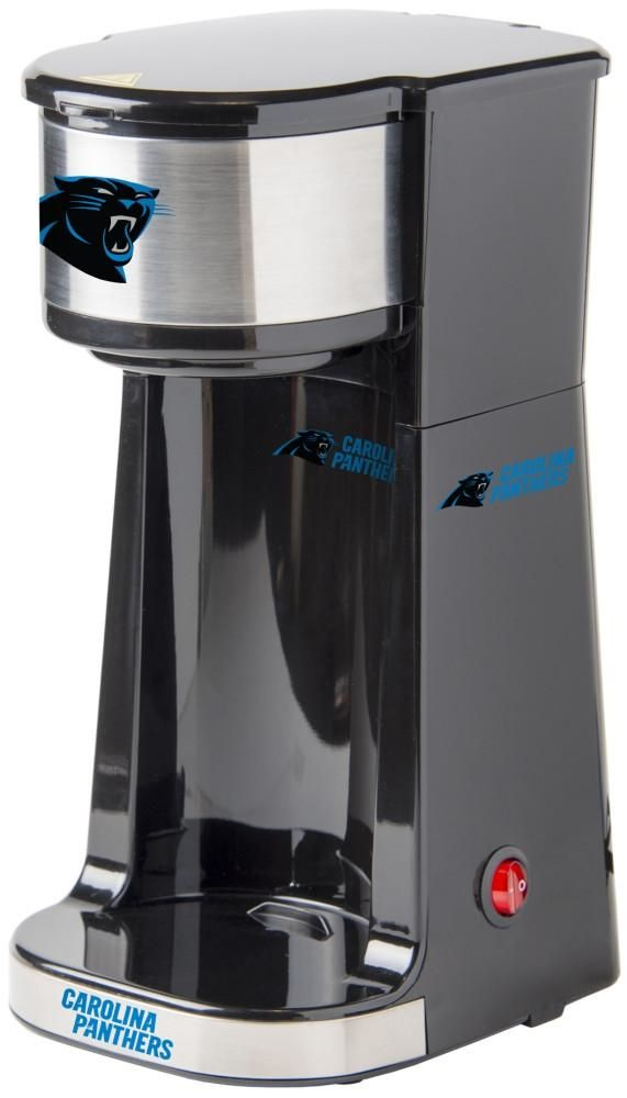 Caffeinate your game days with this single serve Carolina Panthers coffee maker. Small size with One Touch operation switch with light indicator. Free Shipping - Visit SportsFansPlus.com for more details!