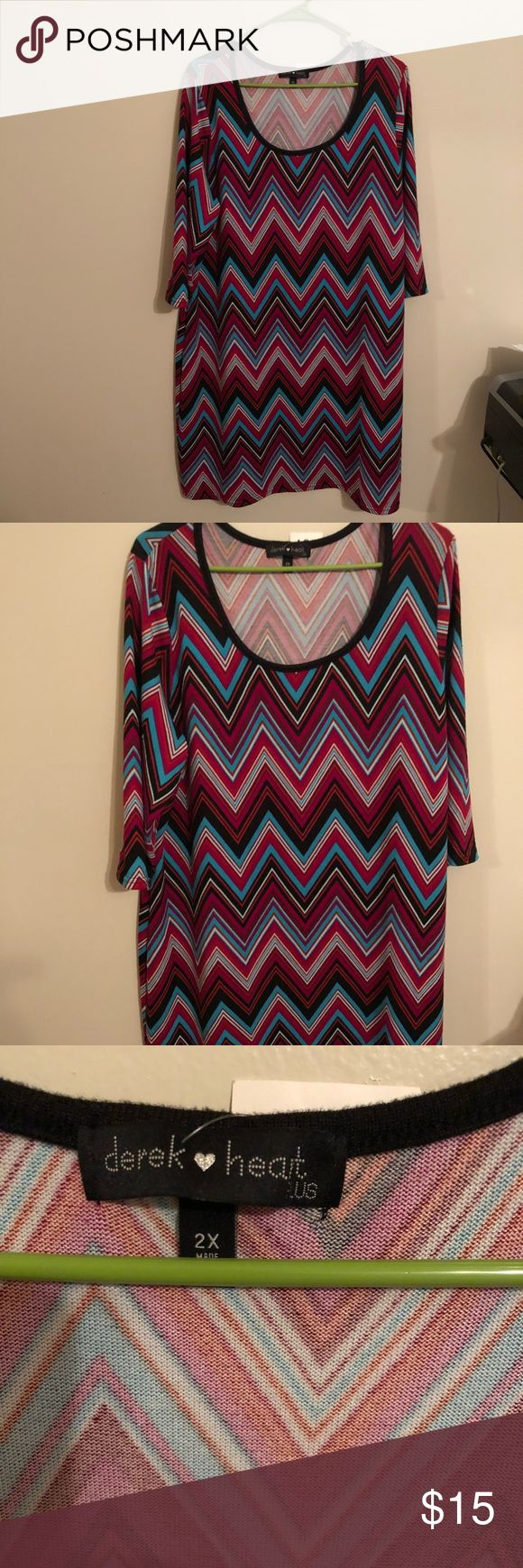 Multicolor Plus Size Dress Multicolored Aztec Print Dress. Great for office and a night out on the town! Dresses Midi