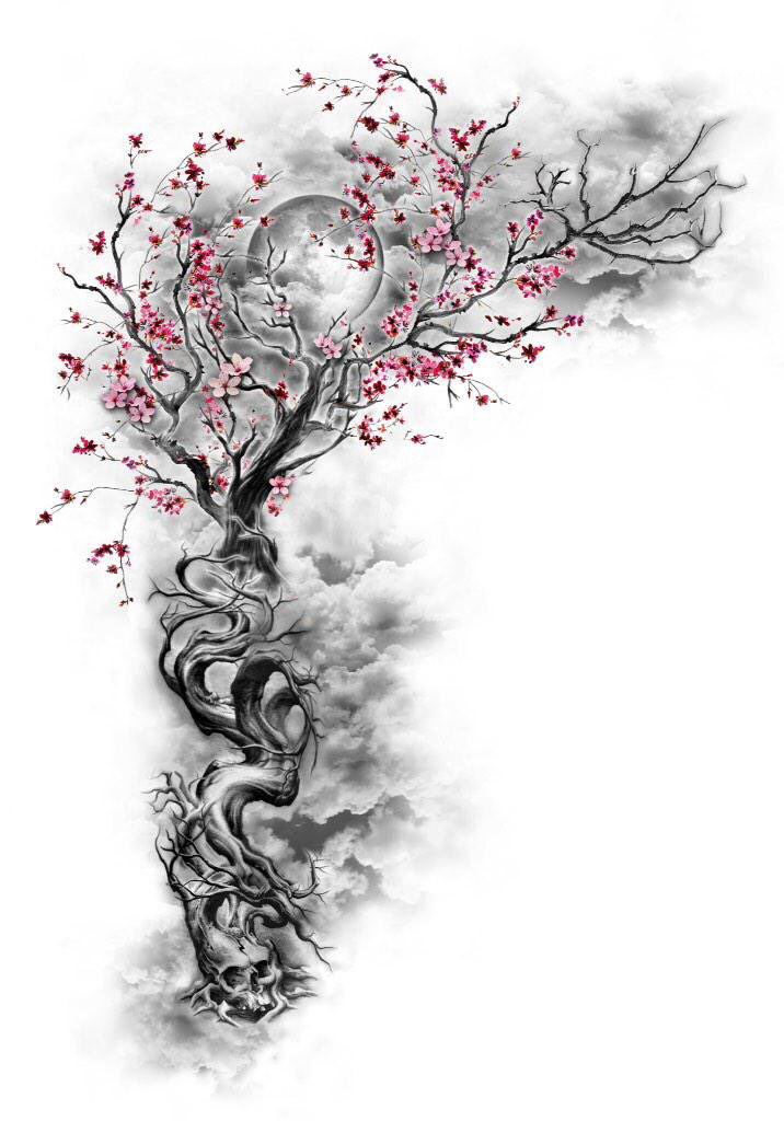 With an anatomical heart at the bottom instead of a skull