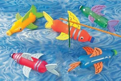 Este juego de los peces se puede adaptar y usarlo con letras