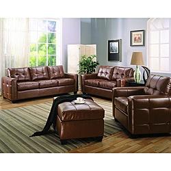 Brown Leather Sofa And Loveseat Leder Wohnzimmer SetLedercouchgarniturBraunen
