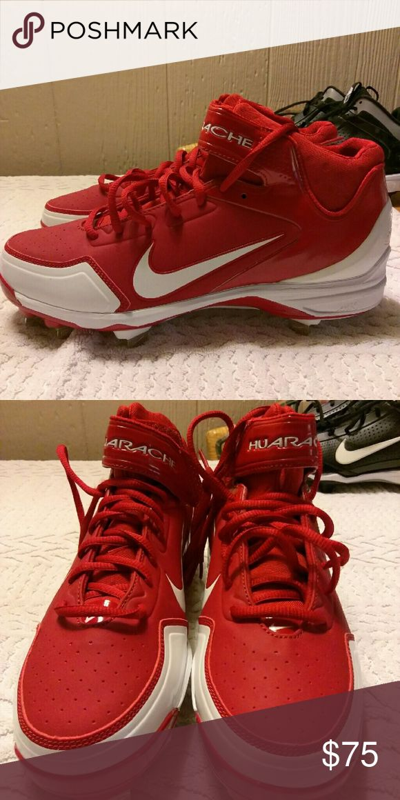 NEW AIR HUARACHE METAL BASEBALL CLEATS SIZE 8.5 A?AUTHENTIC NIKE MEN'S AIR HUARACHE METAL BASEBALL CLEATS SIZE 8.5?? Nike Men's Air Huarache 2KFresh Metal Baseball Cleats Size 8.5  RETAIL LIST $99.99..... ASKING $75 OR BEST OFFER!! (Without The Box) 100% AUTHENTIC NIKE PRODUCTS SHOES NEW NEVER WORN! The Nike Air Huarache 2K Fresh Metal: Advanced support and traction! With a sleek,high-top profile and evolved fit, the Nike Air Huarache 2K Fresh Metal Men's Baseball Cleat is a…