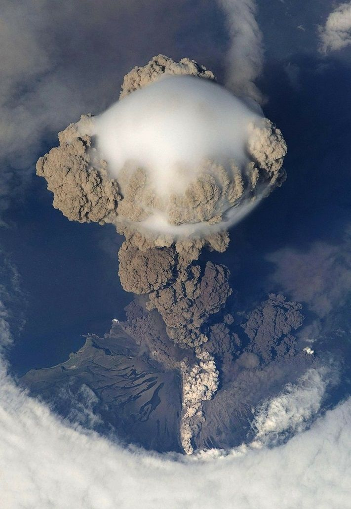 """""""The eruption of the Sarychev Volcano in 2009. Kuril Islands, Russia."""""""