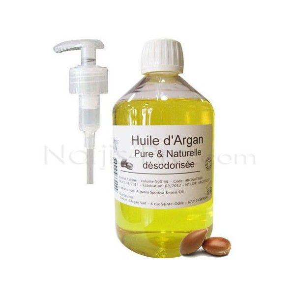 L'Huile d'Argan Pure et Naturelle est proposée en format Cabine 500 ml permettant de réaliser vos Soins Visage en Cabine.