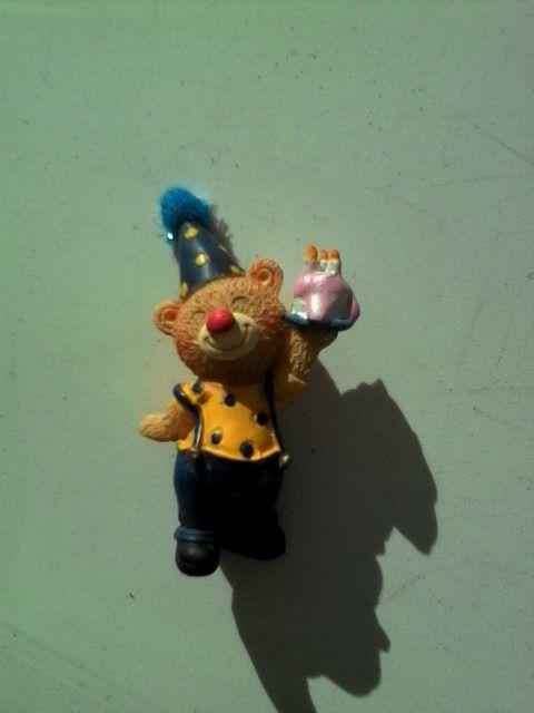 lot de 6 décorations ourson clown en porcelaine : Autres pièces pour créations par 1001-plaisirs