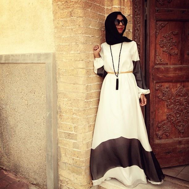 #Hijab elegant dress