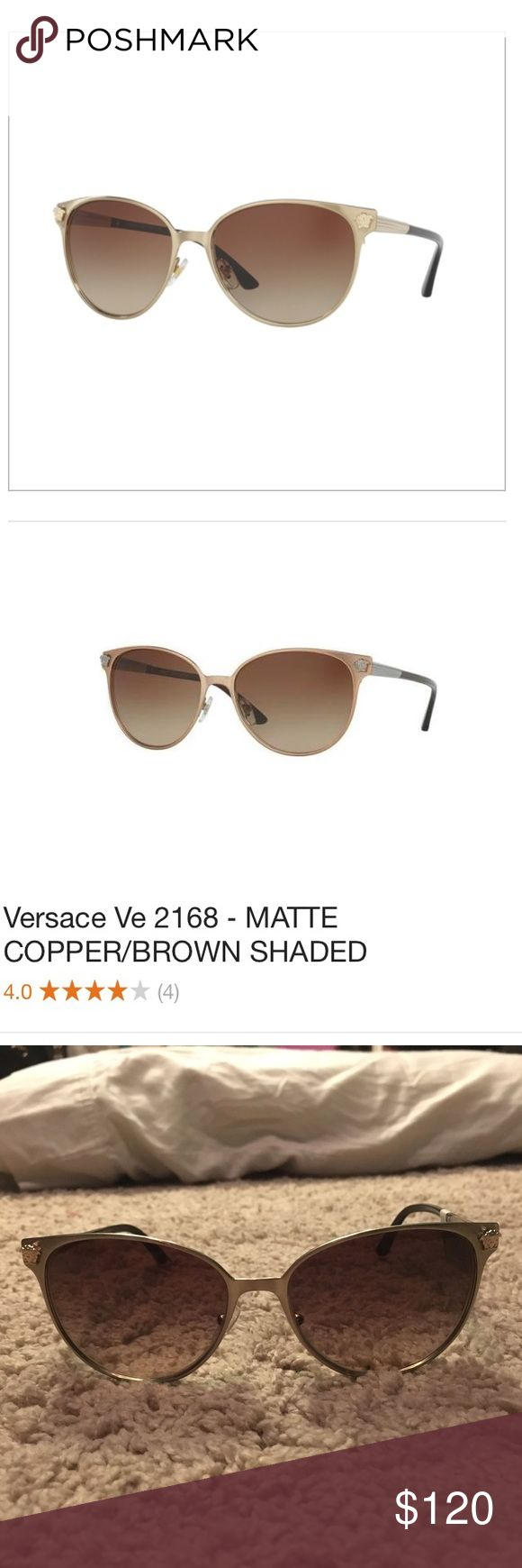 NWT Versace Ve 2168 Matte Copper Brown Sunglasses BRAND NEW!! ⭐️ 100% Authentic Versace product  Brand: Versace Type: Sunglasses Model: Versace VE 2168 Sunglasses Gender: Female Material: Metal The Versace brand is synonymous with prevailing taste and quality craftsmanship. It is for that reason, that Versace was quick to become a leading brand in luxury eyewear. Created for the fashionable consumer, Versace produces a range of shades from classy and basic to elegant or chic. Your…