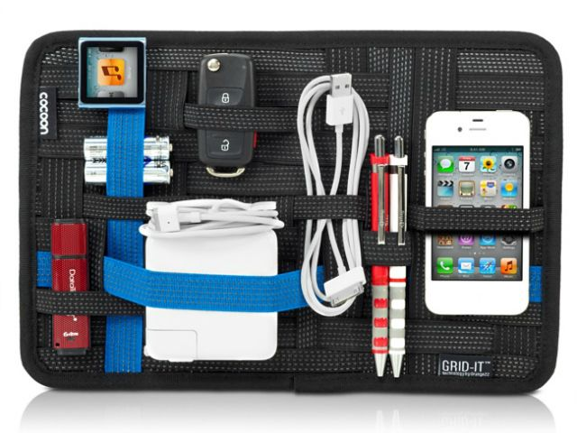 The Ultimate Organizer! The Grid-It system provides endless configurations for your digital devices and personal effects. Conveniently sized for your current laptop bag or travel case, you will save time on the go by easily finding what you need.