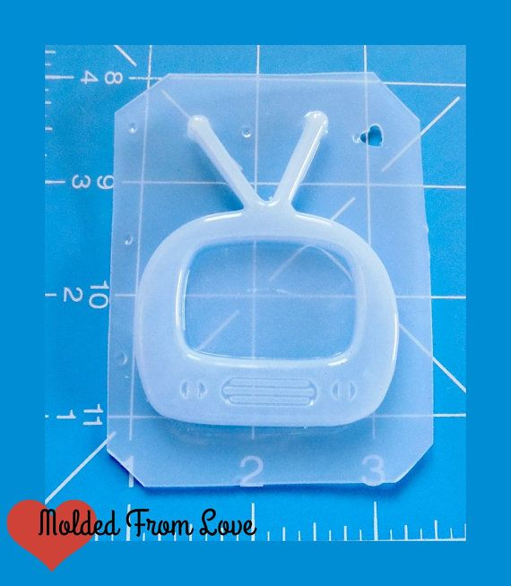 SALE New Detailed Retro Tv Handmade Plastic Mold by MoldedfromLove