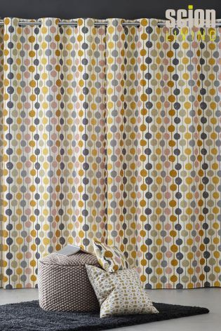 Buy Scion Ochre Taimi Eyelet Curtains from the Next UK online shop
