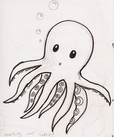 Bilderesultat for cute octopus drawing