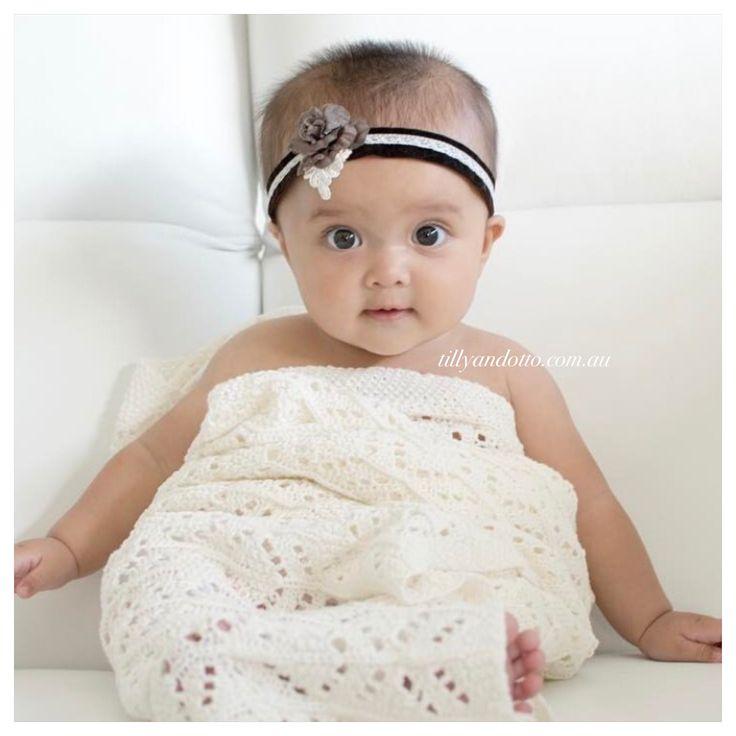 Cloud soft cottons in a scrumptious crochet knit. Essential Newborn Luxury