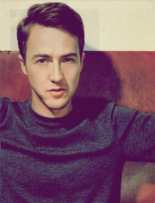 Edward Norton- have a thing for guys like him love him as an actor                                                                                                                                                                                 More