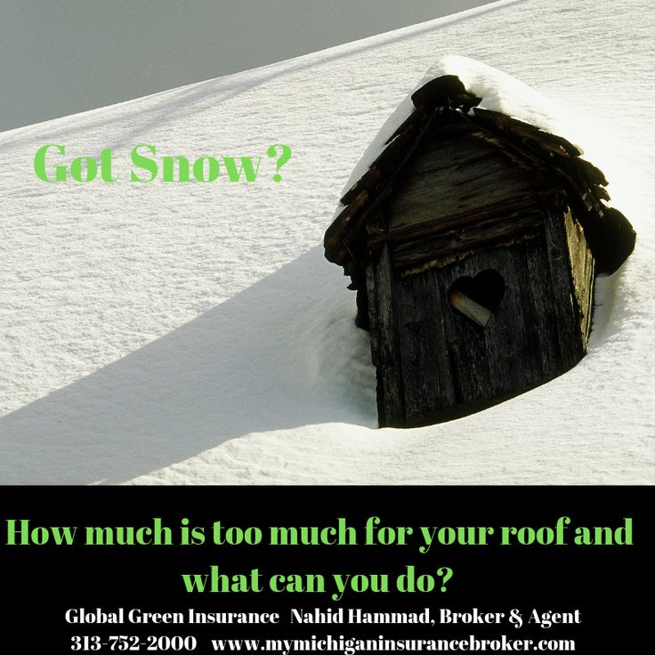 Got snow on your roof experts say if there is heavy wet
