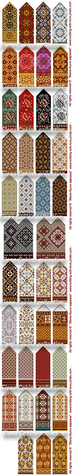 Latvian mittens, Fair isle knitting, ornament, color pattern