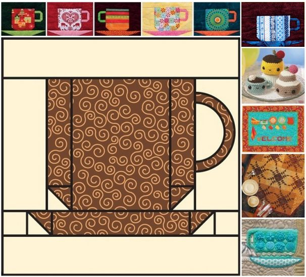 Download this easy coffee cup quilt-block pattern and create a salute to your favorite coffee shop or good 'ol home brew.