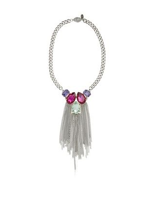 Tova Pear Shape Crystal Fringe Necklace