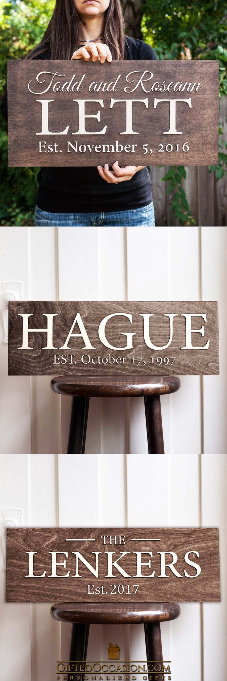 Personalized Sign Hague Design 7412 best Modern