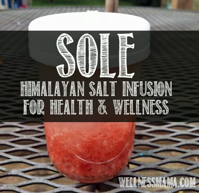 Sole is water that has been saturated with the minerals in natural salt, making it good for digestive health, mental health, skin, hair, nails and more. Recipe here.