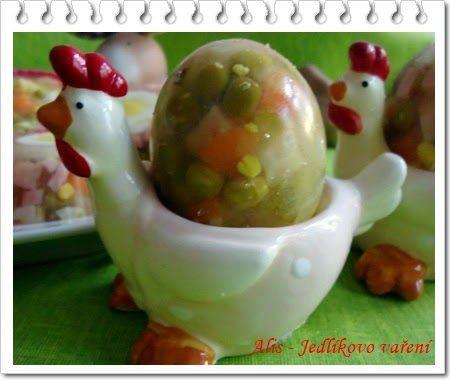 Jedlíkovo vaření - velikonoční aspiková vajíčka  #recipe #czech #easter #velikonoce #eggs #vejce #aspik  #recept