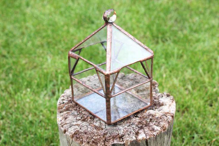 Tiffany üveg florárium.