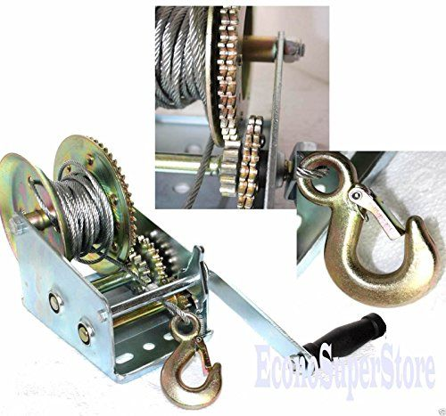 3500lbs Dual Gear Hand Winch Hand Crank Manual Boat Atv Rv Trailer 33ft Cable - http://www.caraccessoriesonlinemarket.com/3500lbs-dual-gear-hand-winch-hand-crank-manual-boat-atv-rv-trailer-33ft-cable/  #33Ft, #3500Lbs, #Boat, #Cable, #Crank, #Dual, #Gear, #Hand, #Manual, #Trailer, #Winch #Towing-Products-Winches, #Towing-Products-Winches, #Truck