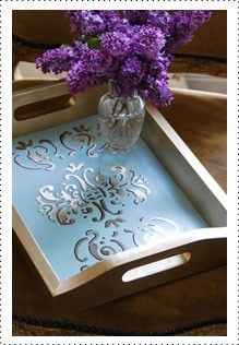 How to make an entertaining tray #Krylon  #craft #craftpainting