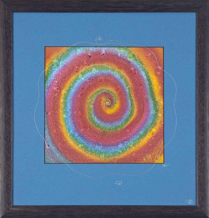 Martina Černá, Hodvábna mandala, 55 €, 42 x 43,5 cm