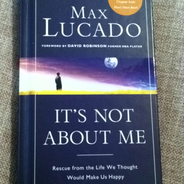 """""""It's not about me"""" great book"""