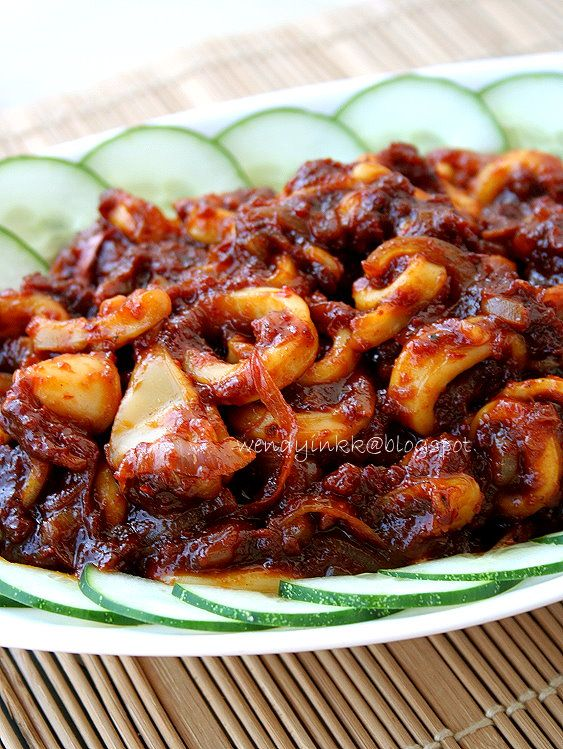 Table for 2.... or more: Squids in Sambal - Seafood Week #2