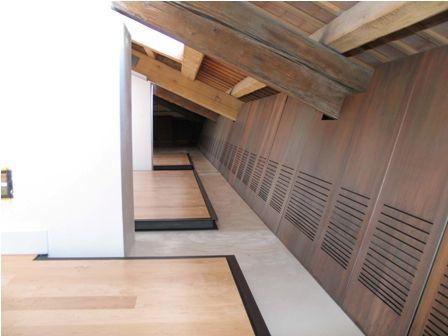 Pavimentazione piano terra e pannelli di mascheramento sottotetto per restauro Palazzo Capitaneria di Porto Venezia « Giovanni Casellato – design