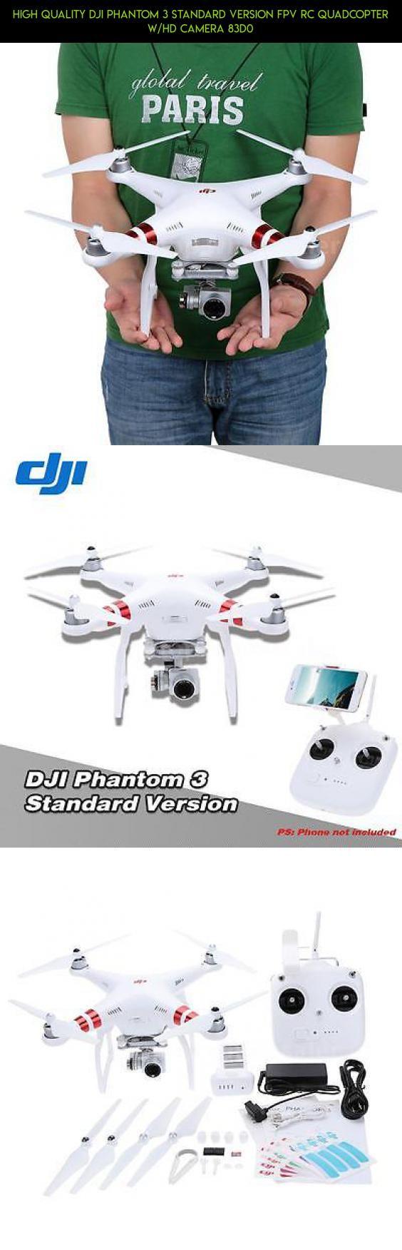 High Quality DJI Phantom 3 Standard Version FPV RC Quadcopter w/HD Camera 83D0 #parts #shopping #kit #products #fpv #gadgets #standard #3 #camera #dji #phantom #drone #version #racing #plans #technology #tech