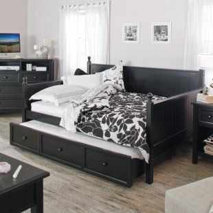 Casey Daybed - Black - Full - Daybeds : Guest bed idea! Full size daybed