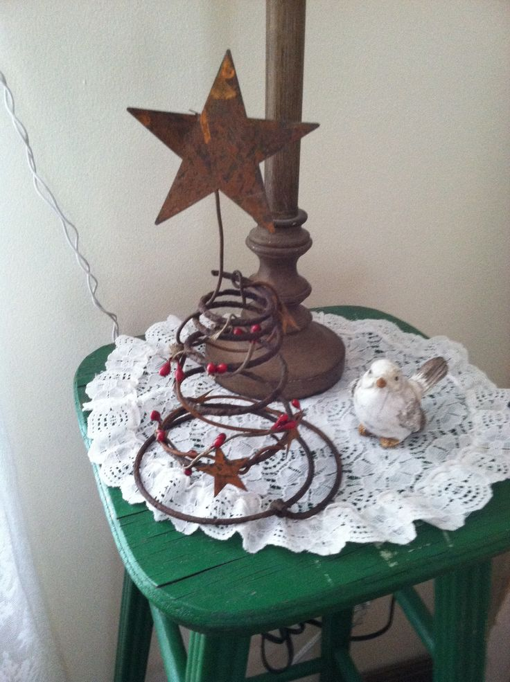 Christmas tree out of rusty bed springs