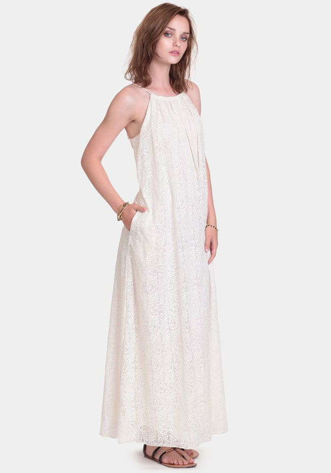 Monica Embroidered Maxi Dress By Line & Dot at #threadsence @threadsence
