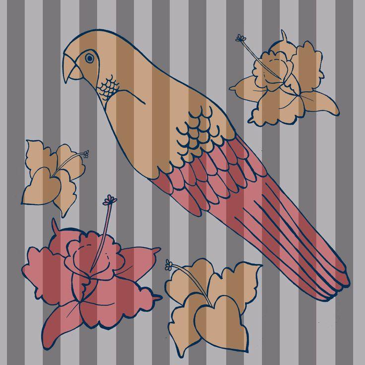 Textil Africa Flores Aves
