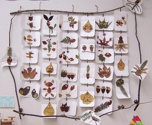 Creatief met bladeren