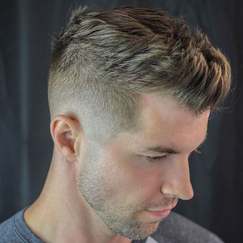 Low Tape Up with Textured Spiky Hair