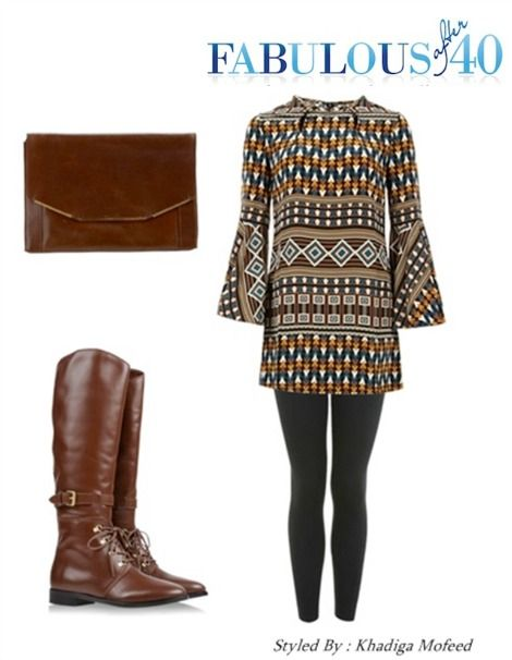 Leggings and Tunic; add boots and you are done.