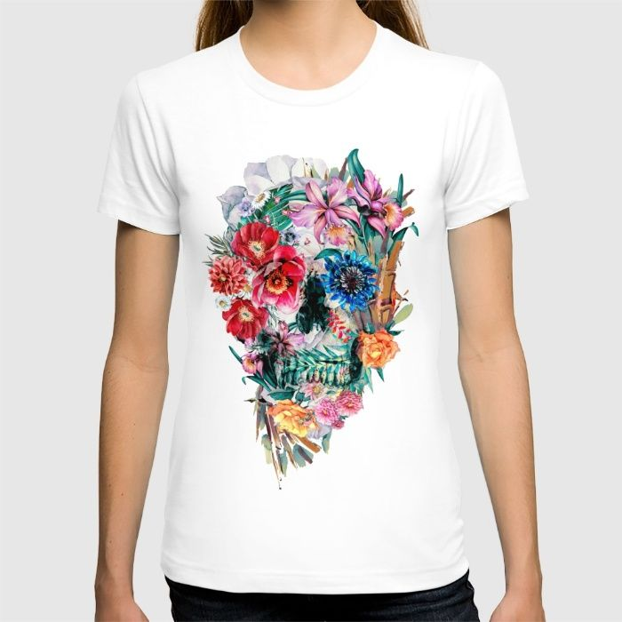 Momento Mori VI T-shirt Momento Mori VI @society6  shop #society6 -> http://bit.ly/1mzSdc2  #skull #tshirts #cool #Streetfashion