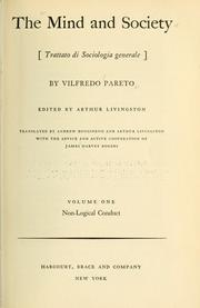The Mind & Society - Vilfredo Pareto